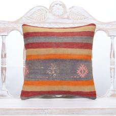 Colorful Striped Kilim Rug Pillowcase Vintage Decorative Sofa Pillow