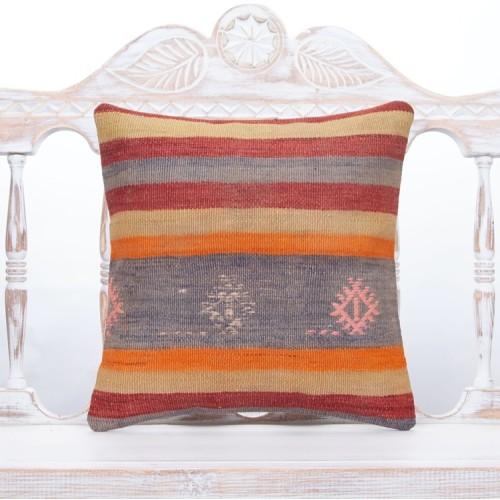 Colorful Striped Kilim Rug Pillowcase Vintage Decorative Sofa Pillow
