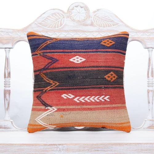 Ethnic Colorful Sofa Decor Pillow Handmade Turkish Kilim Rug Cushion