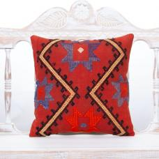 "Home Decor Accent Square Pillow Embroidered 16"" Vintage Kilim Cushion"