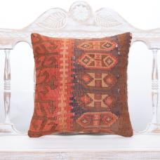 Oriental Antique Turkish Kilim Cushion Square Tribal Sofa Decor Throw
