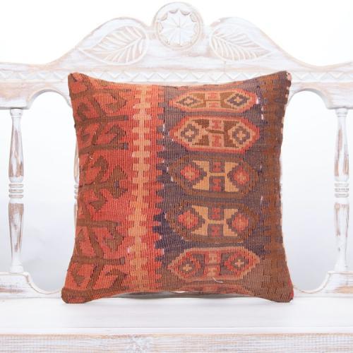 Oriental Antique Turkish Kilim Cushion Square Tribal Sofa Decor Throw
