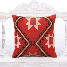 "Retro Decorative Kilim Rug Pillow 16x16"" Ethnic Interior Decor Throw"