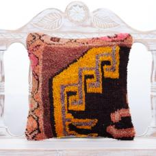 Tribal Turkish Rug Pillowcase 16x16 Colorful Vintage Decor Throw Pillow