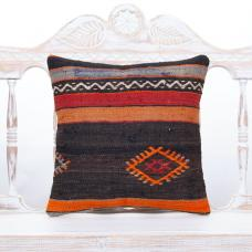 Vintage Handmade Cushion Cover Decorative Anatolian Kilim Throw Pillow