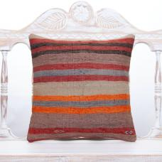 "Vintage Striped Cushion Cover 16x16"" Old Tribal Sofa Couch Decor Throw"
