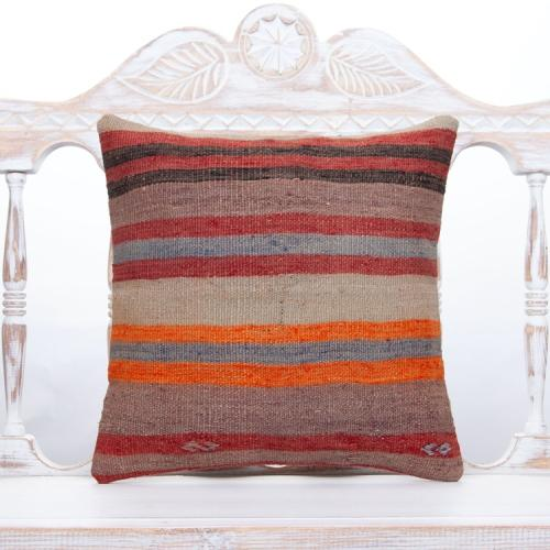 """Vintage Striped Cushion Cover 16x16"""" Old Tribal Sofa Couch Decor Throw"""