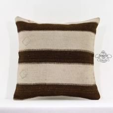 Modern Striped Shabby Cottage Pillow Turkish Kilim Cushion Eclectic Decor Sham