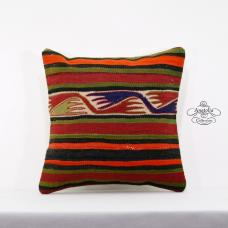 Nomad Art Vintage Kilim Pillow 16x16 Turkish Kelim Rug Cushion Cover Floor Throw