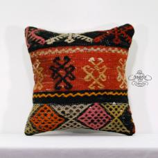Ottoman Decorative Throw Pillows Embroidered Kilim Rug Designer Pillowcase 16x16