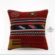 "Retro Kilim Pillow Tribal 16"" Eclectic Interior Decoration Turkish Cushion Cover"