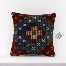 Retro Kilim Pillow Tribal Eclectic Turkish Cushion Cover Anatolian Decor Throw