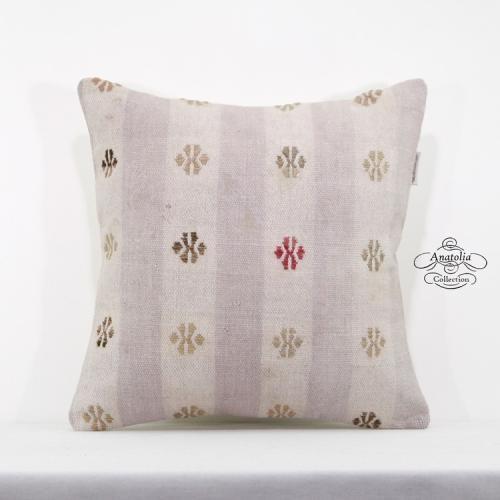 "Retro Kilim Pillowcase Tribal Decorative Kilim Pillow 16"" Turkish Cushion Cover"