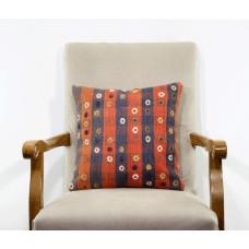 Sale! Floral Embroidered Pillow Handmade Vintage Kilim Custom Designer Cushion