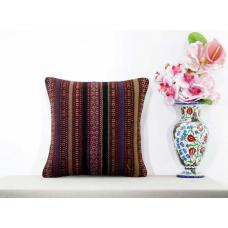 Shabby Cottage Chic Kilim Cushion Sham Ethnic Tribal Striped Turkish Rug Pillow