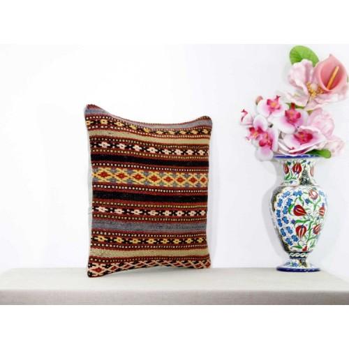Vintage Ethnic Kilim Pillow Turkish Designer Custom Sofa Floor Throw
