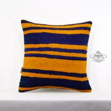 "Striped Kilim Rug Pillow 18x18"" Turkish Handwoven Pillowcase Retro Kelim Cushion"