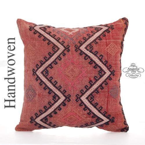 "Designer Embroidered Kilim Throw Pillow 18x18"" Boho Sofa Decor Throw"