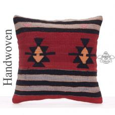 Retro Decorative Square Kilim Pillowcase Anatolian Tribal Kilim Pillow