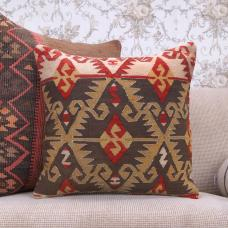Oriental Anatolian Kilim Pillowcase Eclectic Interior Decor Sofa Throw