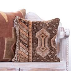 "Eclectic Interior Decor Rug Pillow 18"" Vintage Handmade Turkish Cushion"