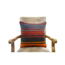 Striped Kilim Rug Cushion Cover Handwoven Turkish Kelim Pillow Sofa Floor Throw
