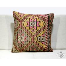 Boho Cottage Kilim Cushion Cover Turkish Home Decor Pillow Case Floor Throw 20""