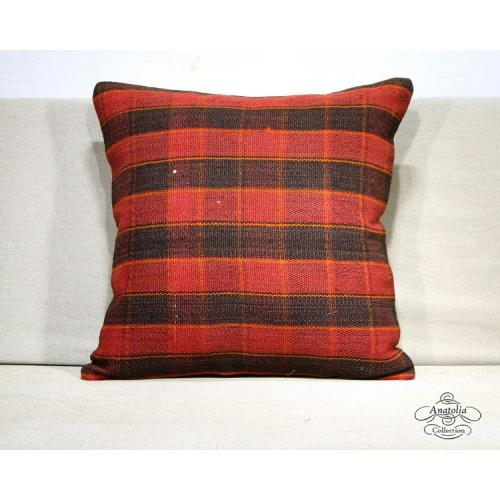 Burlap Red Kilim Pillow Eclectic Interior Design Turkish Kelim Rug Cushion Cover
