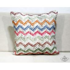 Colorful Boho Chic Kilim Cushion Throw Hairy Zig Zag Kelim Rug Pillow Sham 20""