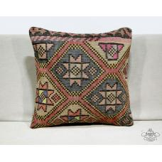 "Cottage Chic 20x20"" Kilim Pillow Ethnic Turkish Decor Accent Eclectic Floor Sham"