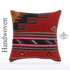 "Bohemian Decor Accent Pillow Cover 20x20"" Turkish Kilim Rug Cushion Pillowcase"