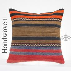 "Turkish Large Kilim Pillow Striped 20x20"" Cushion Cover Decorative Sofa Couch Throw Pillowcase"