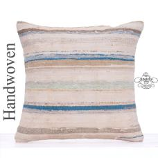 "Retro Decorative Large Floor Throw Pillow 20"" Striped Cottage Cushion"