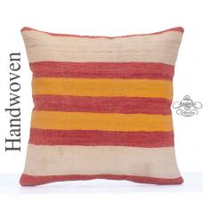 "Striped Colorful Kilim Cushion 20"" Large Sofa Couch Floor Throw Pillow"