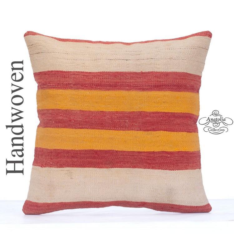 Striped Colorful Kilim Cushion 20\
