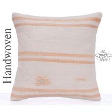 "Striped Cottage Chic Kilim Pillowcase 20x20"" Retro Kelim Rug Cushion"