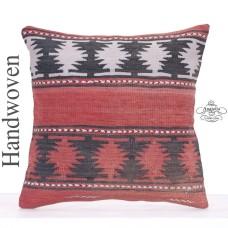 Tribal Anatolian Large Kilim Cushion 20x20 Decorative Sofa Floor Throw
