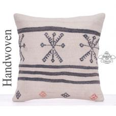 Shabby Chic Decor Accent Large Pillow Embroidered Kilim Rug Cushion