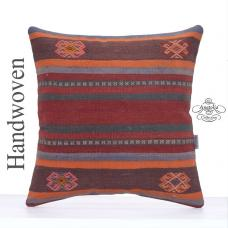 "Home Decoration Large Kilim Pillow 20x20"" Vintage Turkish Rug Cushion"