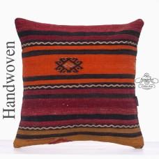 "Vintage Decorative Kilim Pillow Throw 20"" Large Hand Made Rug Cushion"