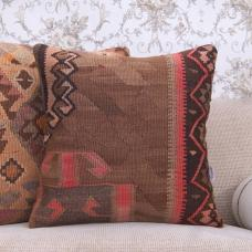 "Eastern Handmade Cushion 20x20"" Ethnic Decorative Kilim Throw Pillow"