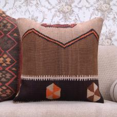 "Eastern Kilim Pillow Cover 20x20"" Ethnic Large Handmade Rug Pillowcase"
