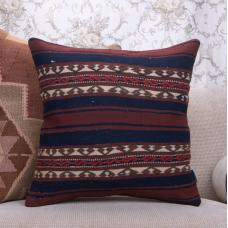 "Bergama Kilim Pillow 20x20"" Ethnic Embroidered Rug Decor Pillowcase"