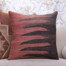 "Old Handmade Turkish Kilim Pillow 20"" Anatolian Rug Throw Pillowcase"