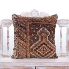 "Soft Vintage Rug Pillow 20x20"" Handmade Oriental Turkish Carpet Throw"