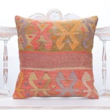 "Pastel Oriental Turkish Kilim Pillow 20x20"" Antique Decor Accent Throw"