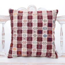 """Retro Decorative Kilim Pillow Embroidered 20x20"""" Handmade Couch Throw"""