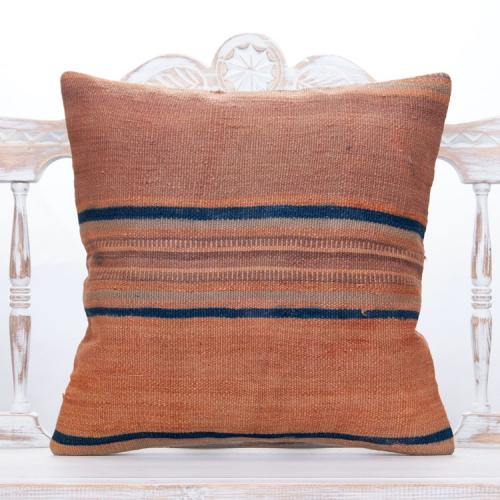 "Striped Vintage Kilim Pillowcase 20x20"" Antique Home Decor Sofa Throw"