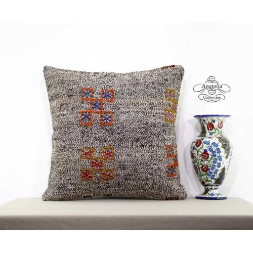 Natural Burlap Kilim Pillow Turkish Living Room Decoration Floor Cushion Cover