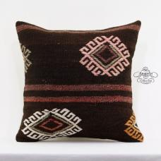 Retro Decor Accent Pillow Cover 20x20 Large Kilim Pillowcase Embroidered Cushion
